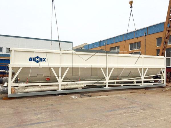 horizontal cement silo;