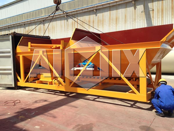 A máquina de dosagem de concreto AIMIX foi exportada para a Austrália