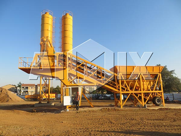 Aimix Group YHZS25 Mini Mobile Concrete Batching Plant