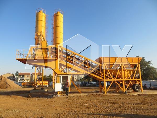 Aimix Group YHZS25 Mini Mobile Concrete Batching Plant