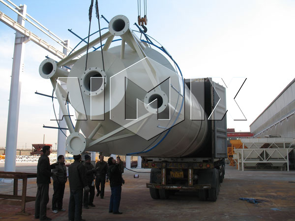 Cement Silo of AIMIX Dry Mix Concrete Batching Plant