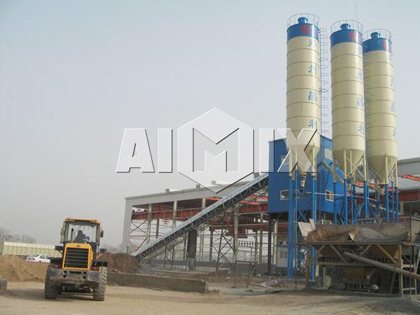 HZS concrete batching plant