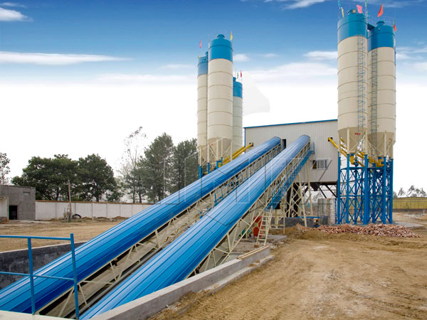 HZS120 central mix concrete plant