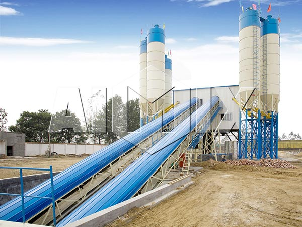 HZS25-240 Ready Mix Concrete Plant HZS120
