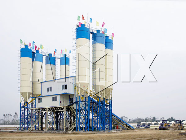 HZS240 central mix concrete plant