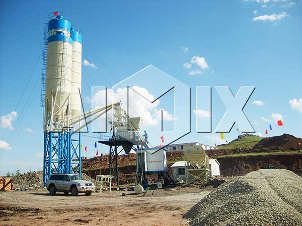 HZS50 Ready Mix Concret Batching Plant Manufacturer