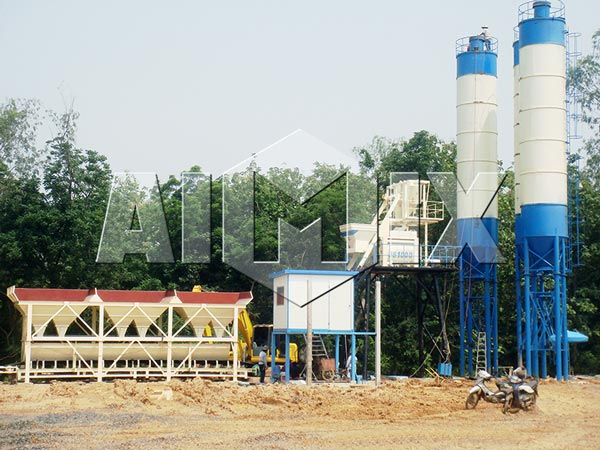 HZS50 Small Concrete Batch Plant