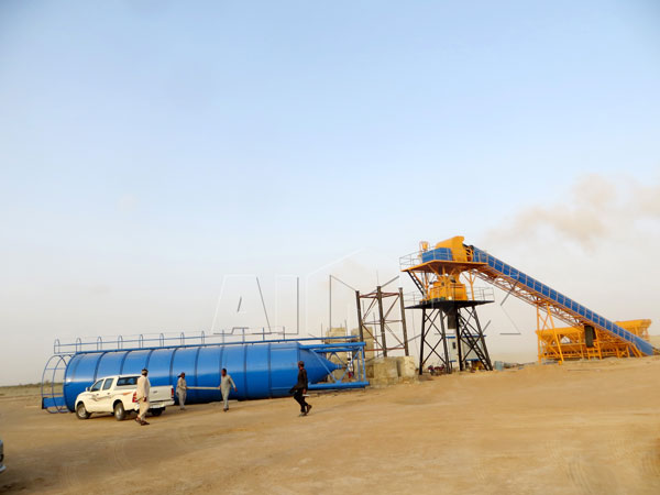 HZS60 concrete ready mix plant