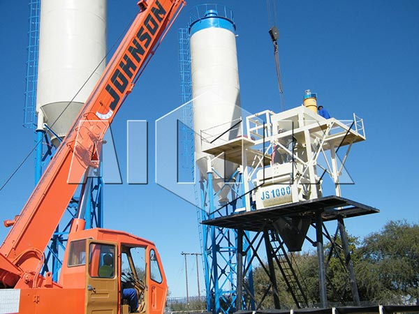 Mini Concrete Batch Plant : Aimix hzs mini concrete batching plant for sale