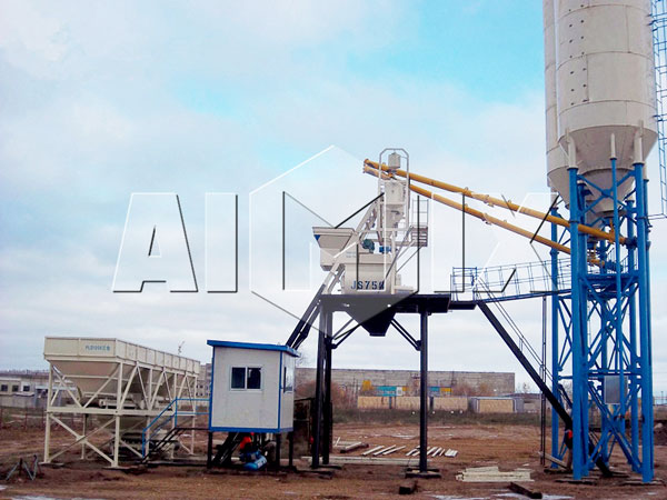 HZS75 Wet Mix Concrete Batch Plant Image