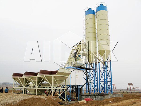 HZS75 Wet Mix Concrete Batch Plant Picture