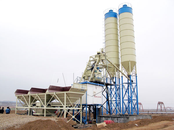 HZS75 concrete ready mix plant
