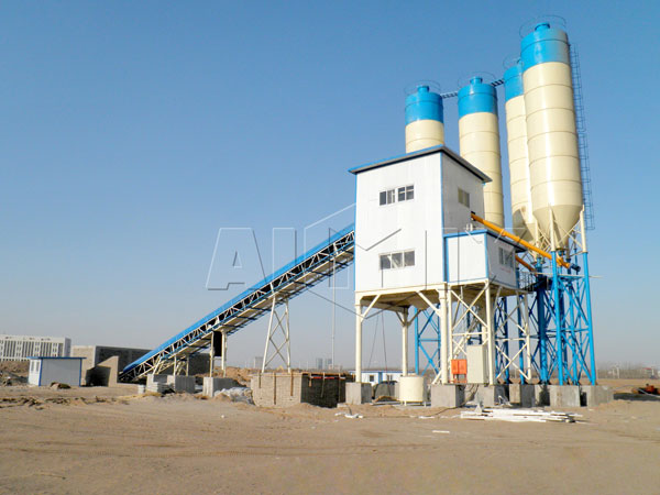 HZS90 concrete ready mix plant