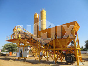 YHZS25-75 Mobile Concrete Batching Plant
