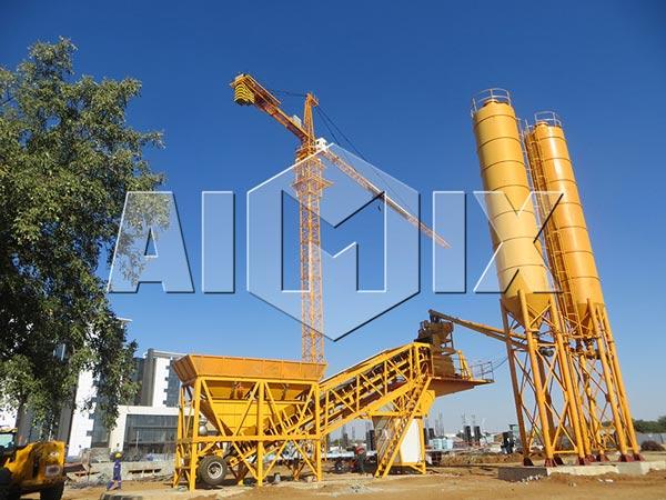 YHZS25-75 Portable Concrete Batch Plant
