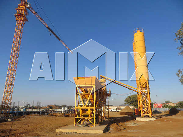 YHZS25 Mini Mobile Concrete Batching Plant from AIMIX