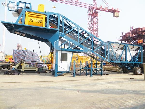YHZS50 Mobile Concrete Batch Plant for Sale