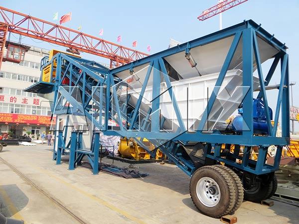 YHZS50 Mobile Concrete Batch Plants for Sale