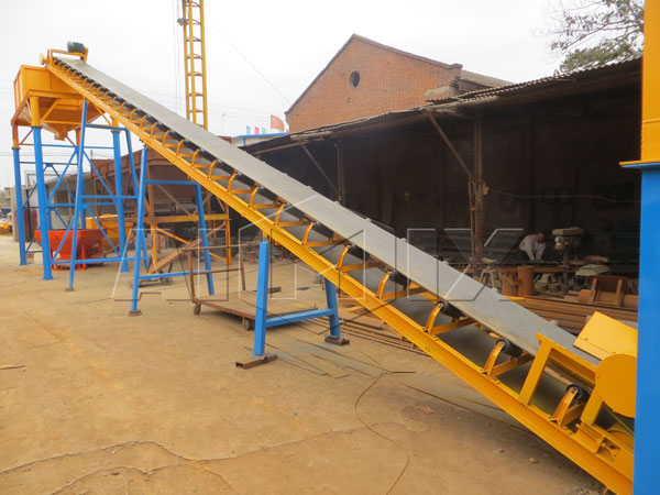 dry mix concrete batching plant of high productivity