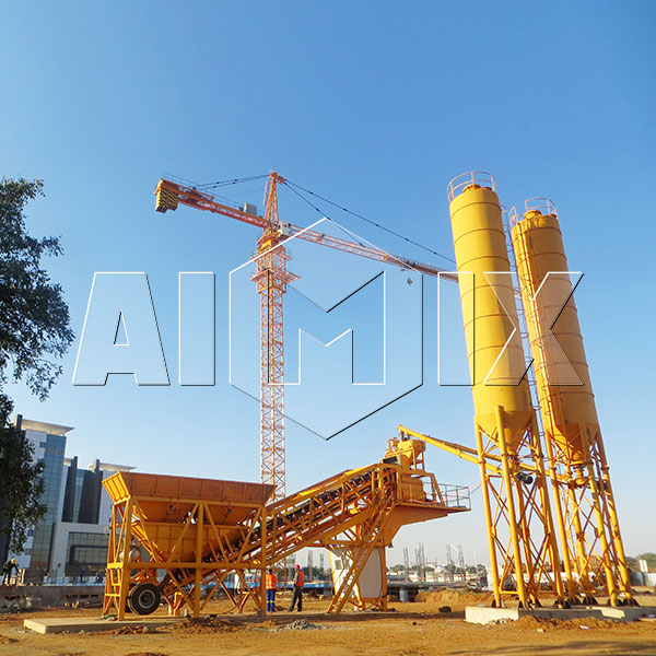 mobile concrete batching plants installation