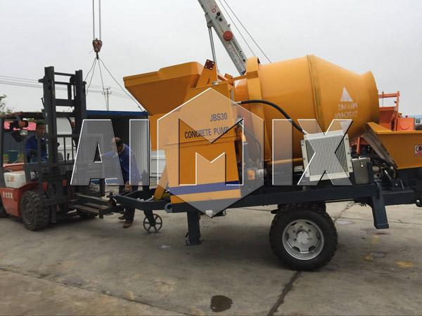 AIMIX JBS30 Concrete Mixer Pump is Exported to Russia