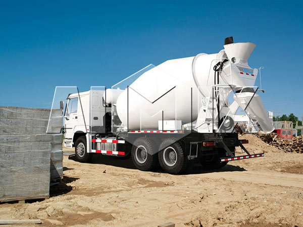 Concrete Mixer Truck White