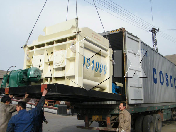Delivery of AIMIX JS1000 Stationary Concrete Mixer