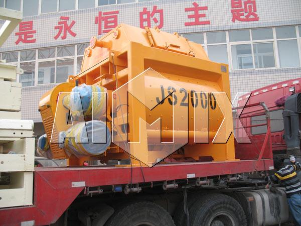 Delivery of AIMIX JS2000 Compulsory Concrete Mixer