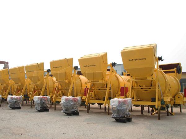 Diesel concrete mixer in factory