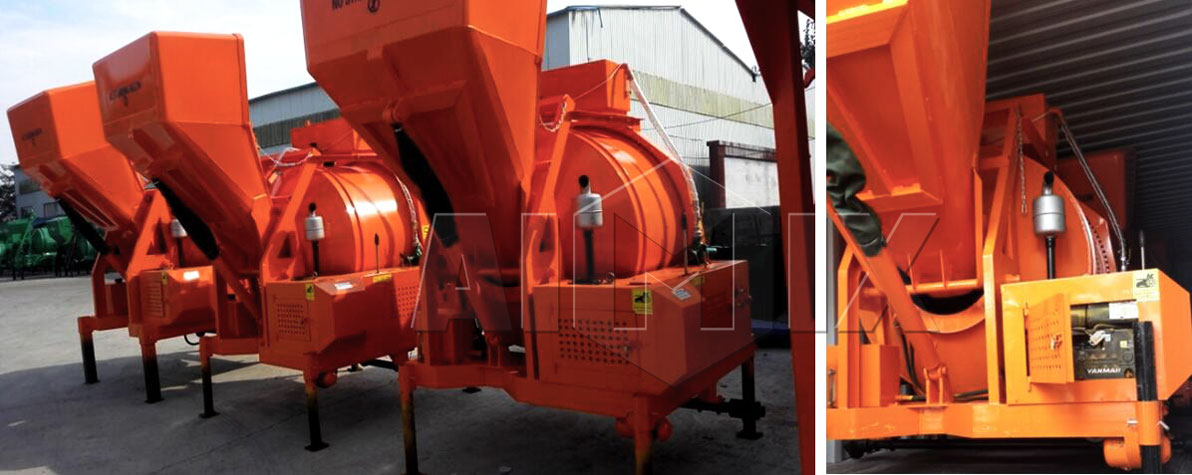 Diesel concrete mixer was sent to The United States