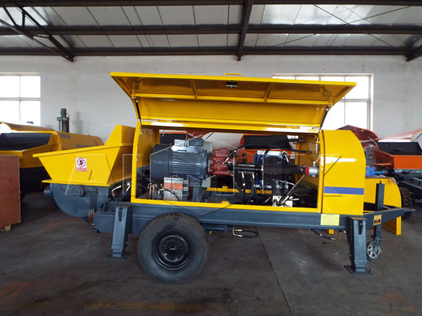 Inner of trailer concrete pump