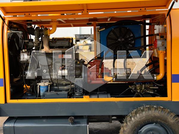 Internal Structure of AIMIX Diesel Concrete Pump