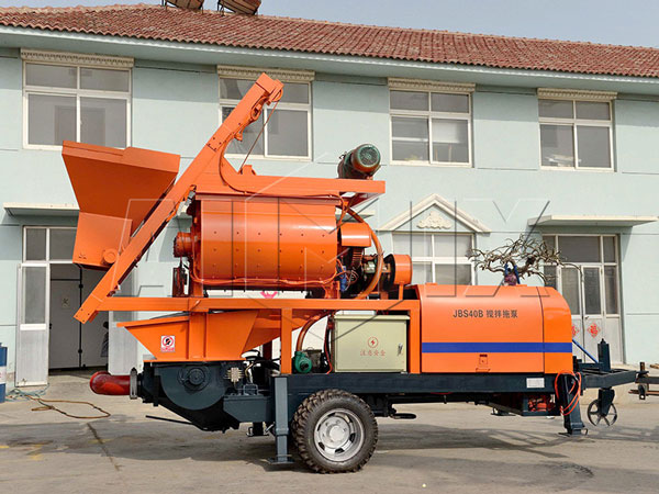 JB40-JS750 electric portable cement mixer and pump