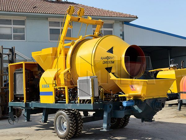 JBS40R-JZC350 small diesel concrete mixer with pump