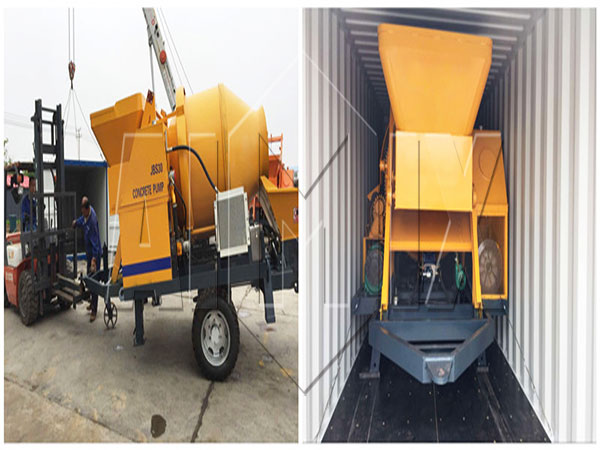 JBS30 electric concrete mixer pump was ready to Russia