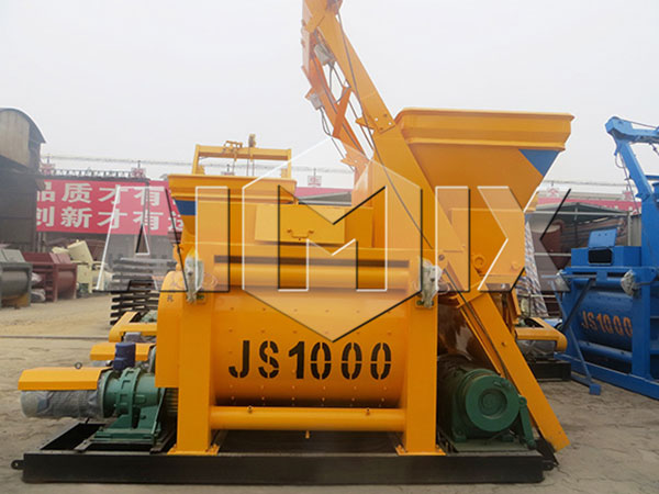 JS1000 twin shaft mixer