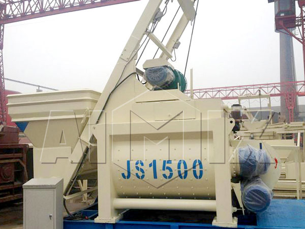 <strong>JS1500 twin-shaft concrete mixer</strong>