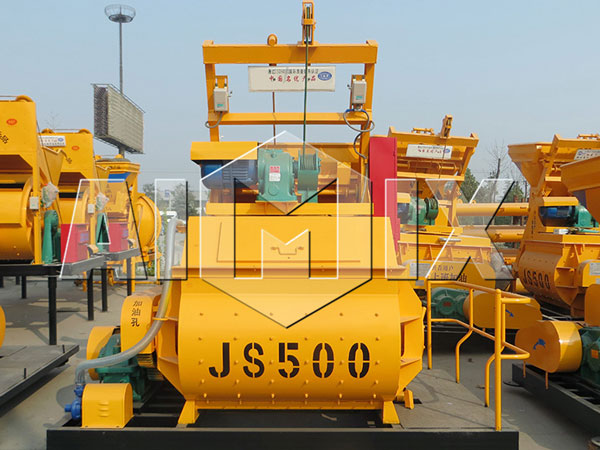 <strong>JS500 twin-shaft concrete mixer</strong>