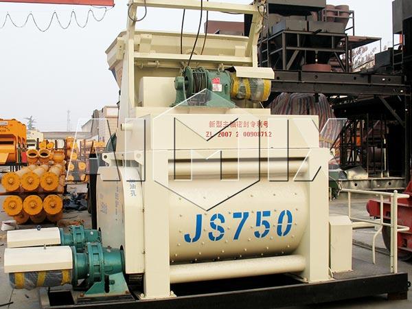 Misturador de concreto de eixo duplo JS750