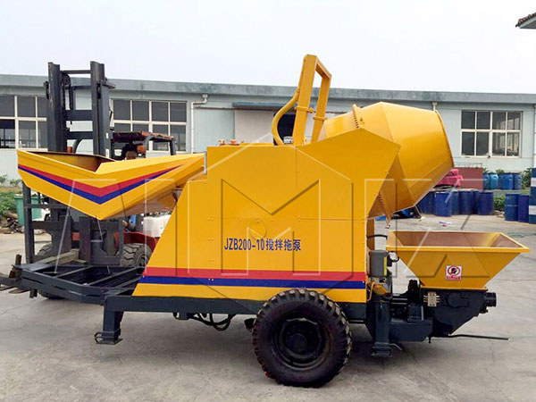 JBS10-JZC200 small electric cement mixer pump