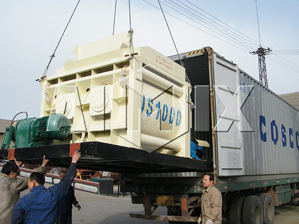 Our Twin Shaft Concrete Mixer is Exported to Philippines