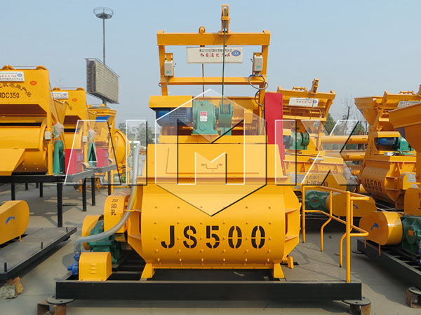 Small Concrete Mixer for Sale JS500