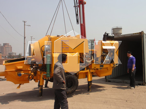 Trailer Concrete Pump Has been Exported to Guinea