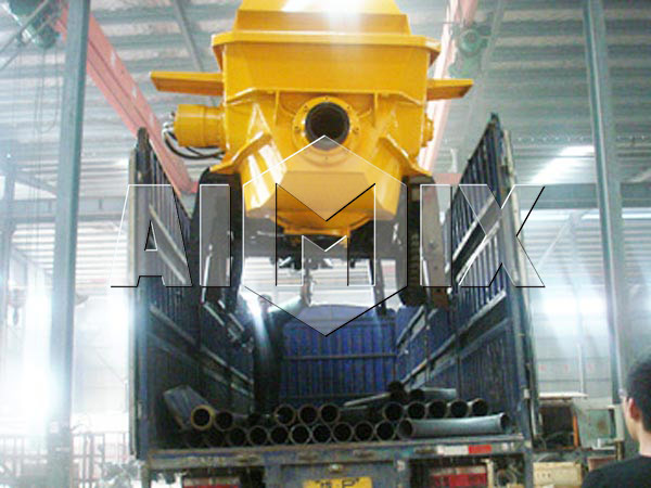 Trailer Concrete Pump Has been Exported to Nigeria