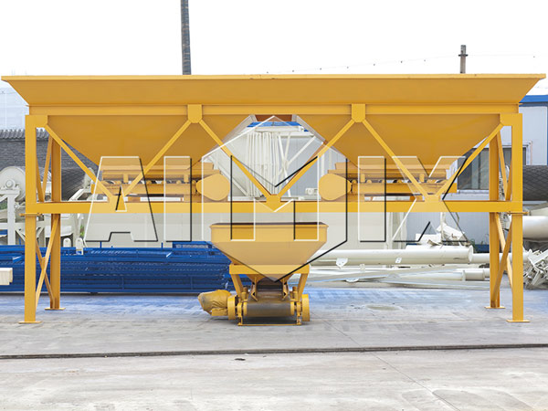 two silos aggregate batching machine