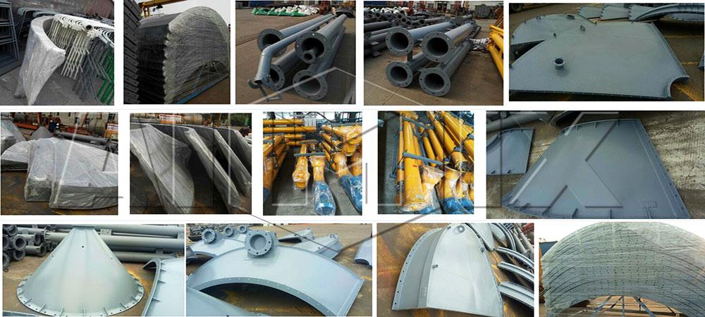 O silo de cimento de 300 t estava pronto para Honduras