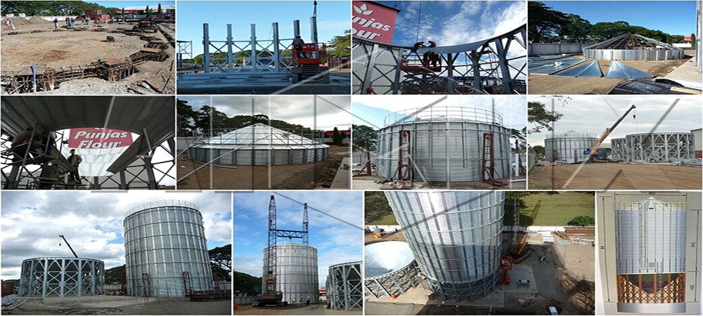 1000t grain silo was installed in Pakistan