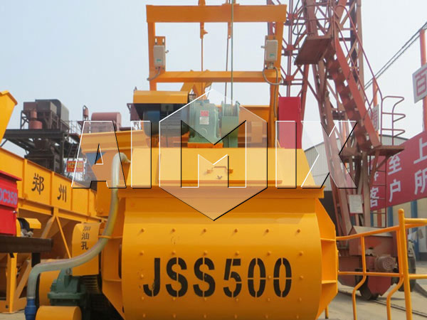 JSS500 Twin Shaft Concrete Mixer