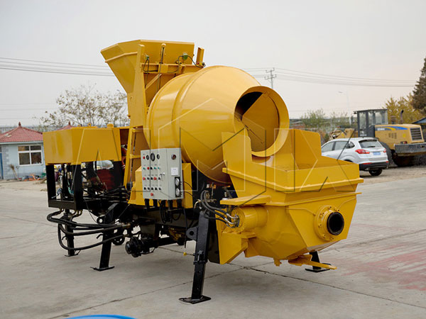 Small diesel concrete mixer and pump