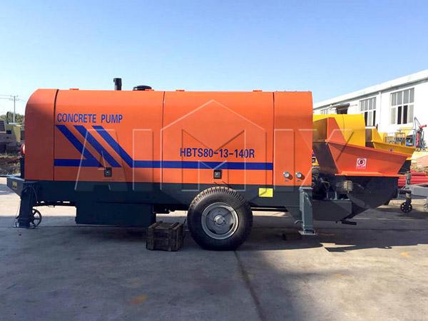 As bombas de concreto AIMIX HBTS80 a diesel foram exportadas para o Vietnã